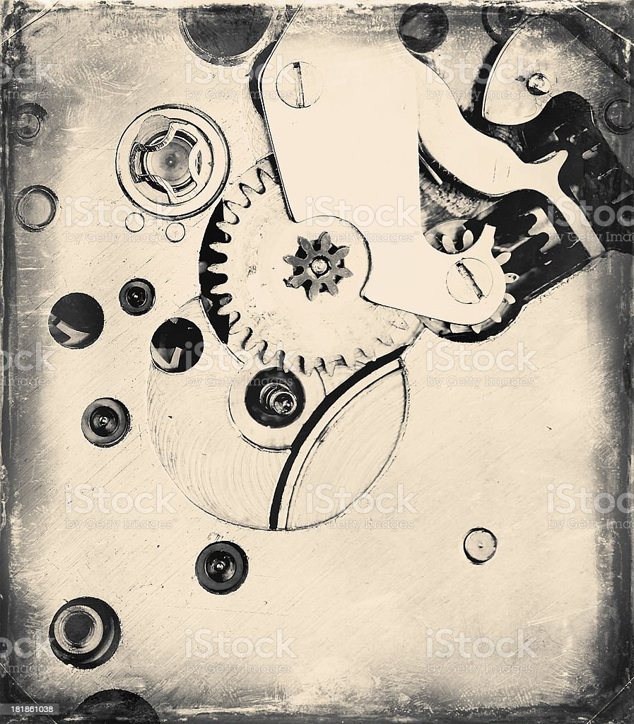 Gears in Antique Watch royalty-free stock photo