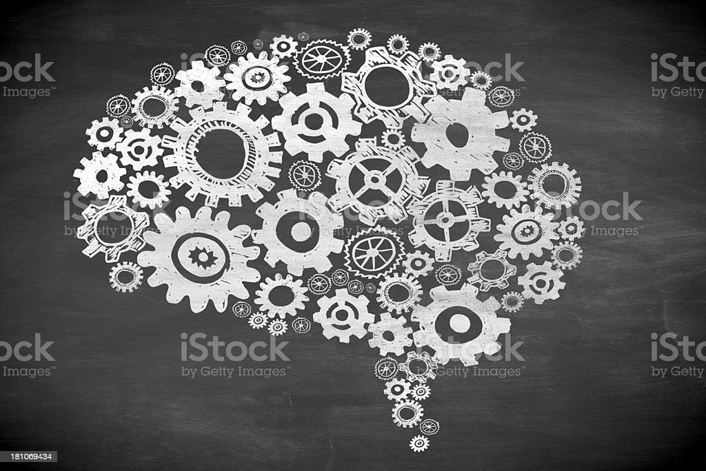 gears in form of a brain royalty-free stock photo