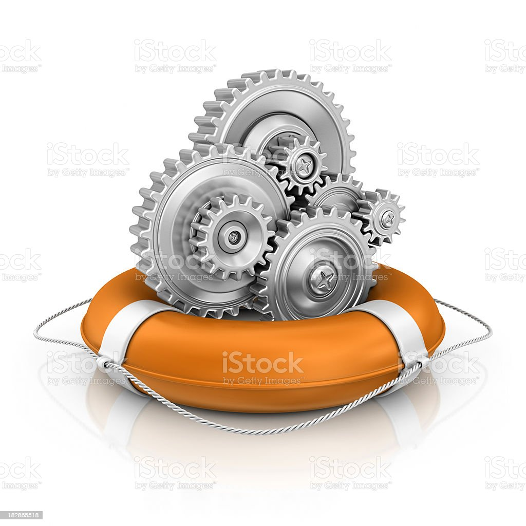 gears in life belt royalty-free stock photo