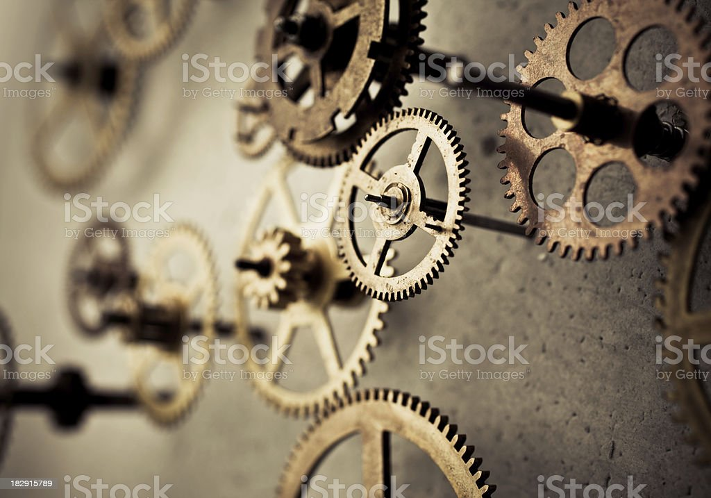 gears in motion stock photo