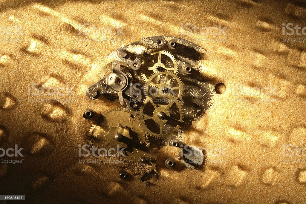 Gears In Sand royalty-free stock photo