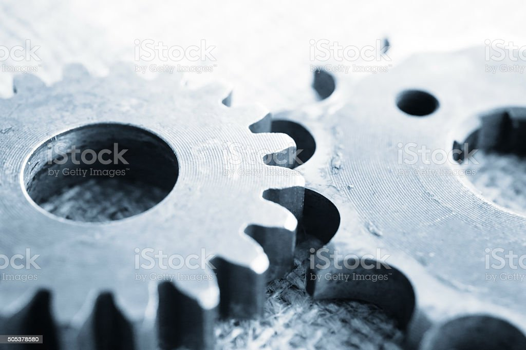 Gears in system stock photo