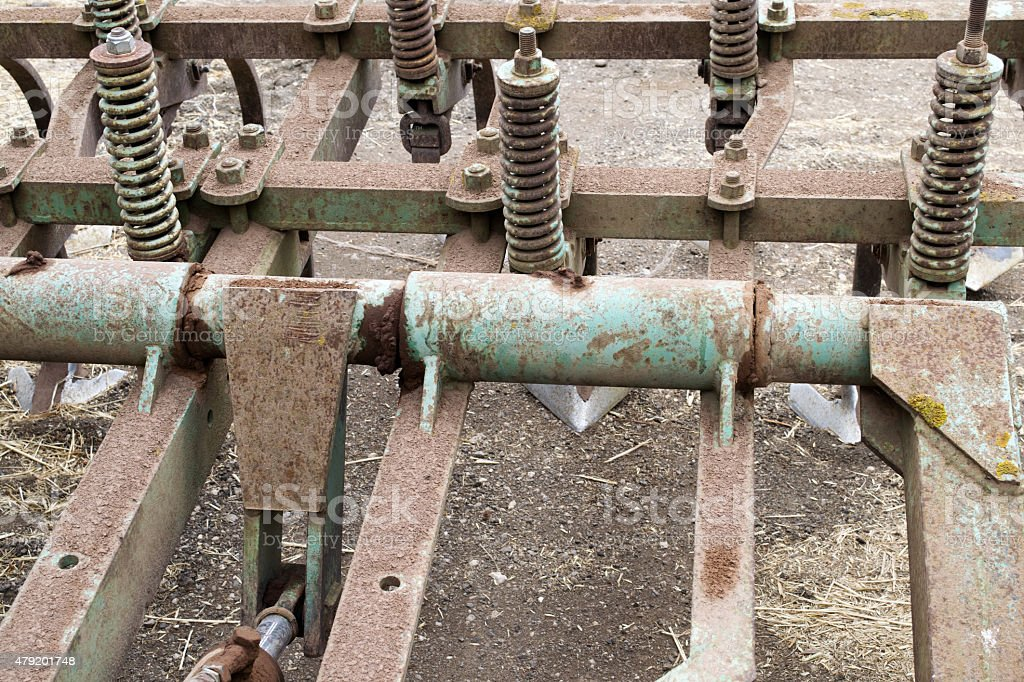 gears of agricultural machinery stock photo