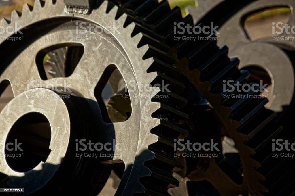 Gears of Production stock photo