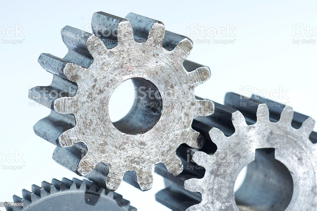 Gears on light background stock photo