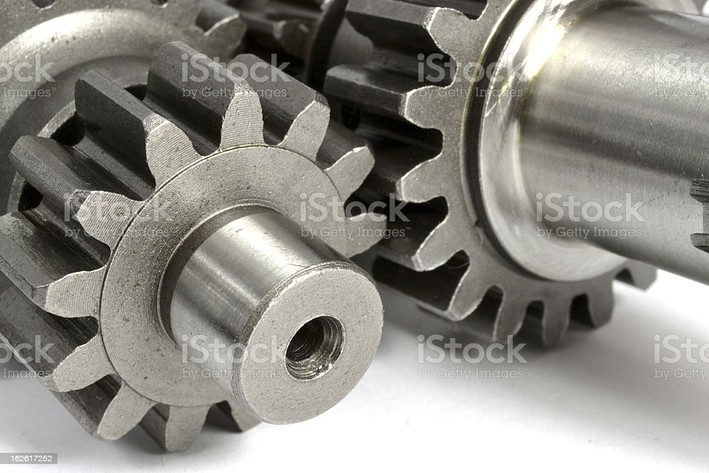 Gears on white royalty-free stock photo