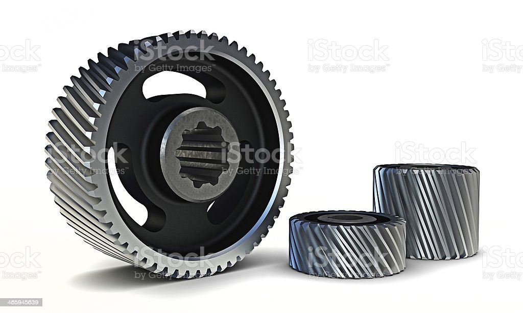 3D gears stock photo