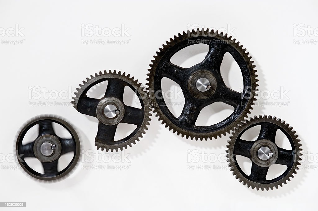 """Gears system not working """"Broken"""" royalty-free stock photo"""