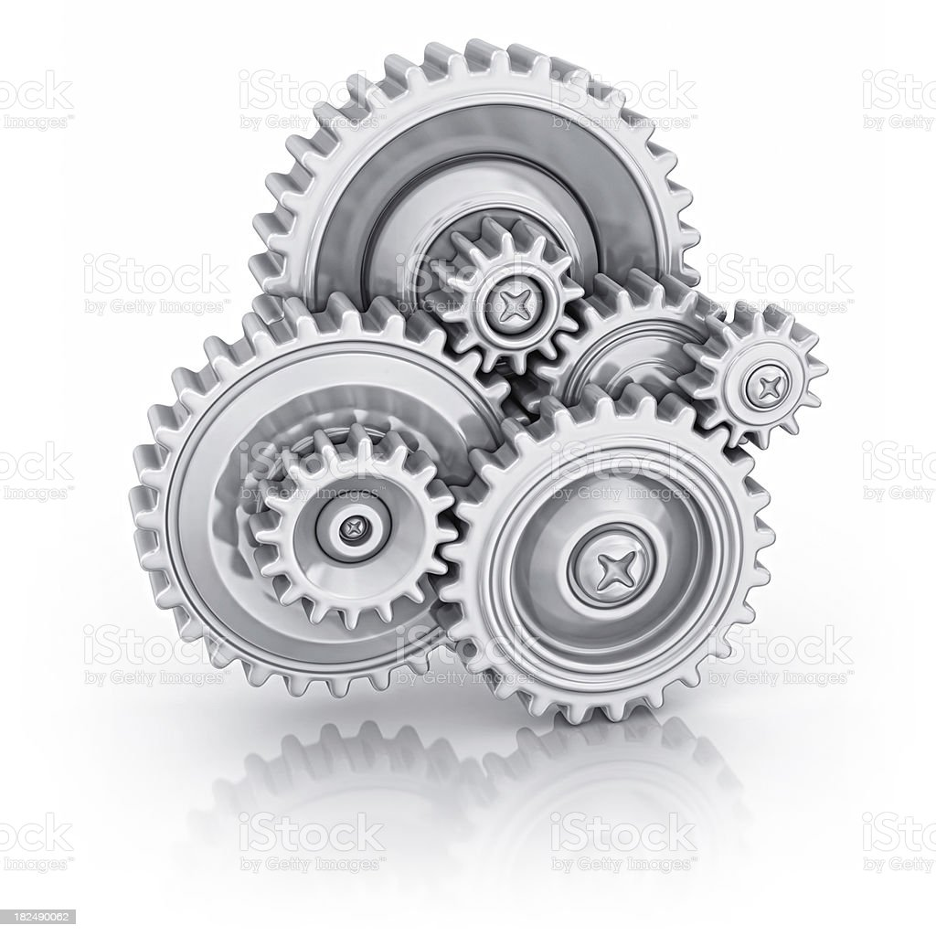 gears teamwork royalty-free stock photo