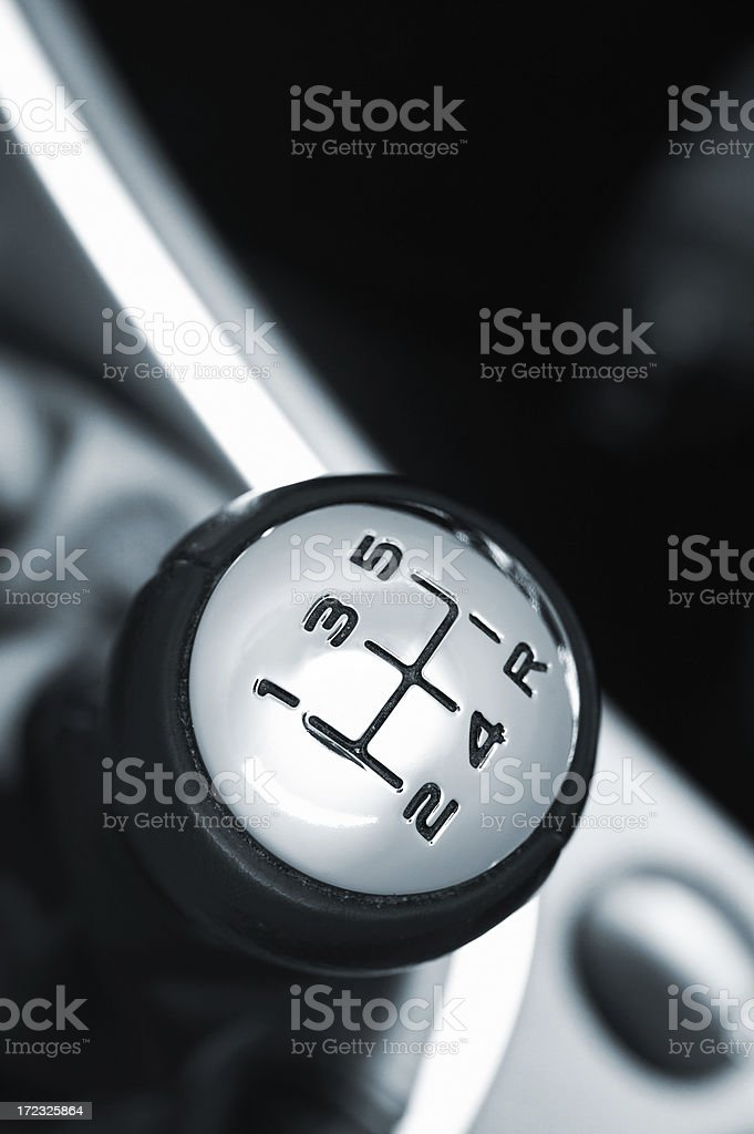 Gearshift Lever royalty-free stock photo
