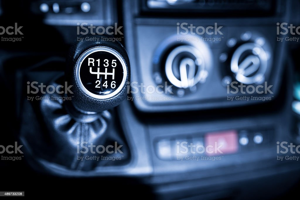 Gearshift Lever stock photo