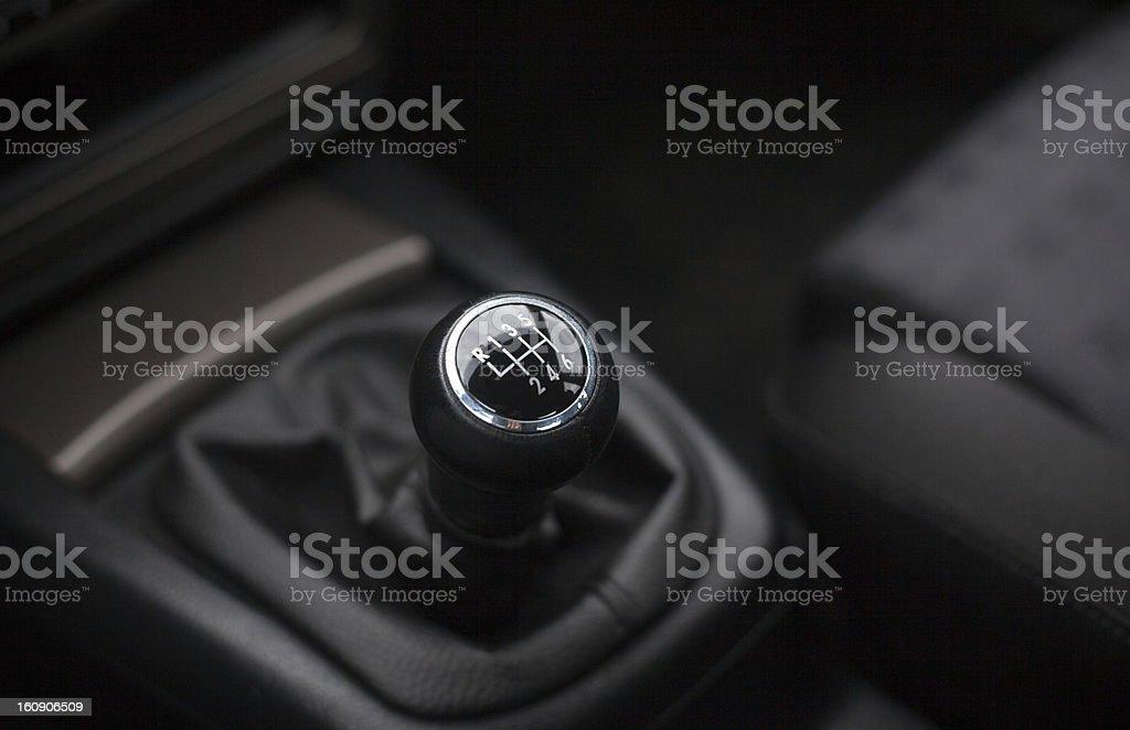 Gearshift Six Speed stock photo