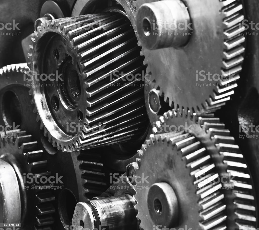 gears-machinery stock photo