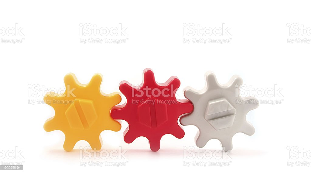 Gear-up Teamwork royalty-free stock photo