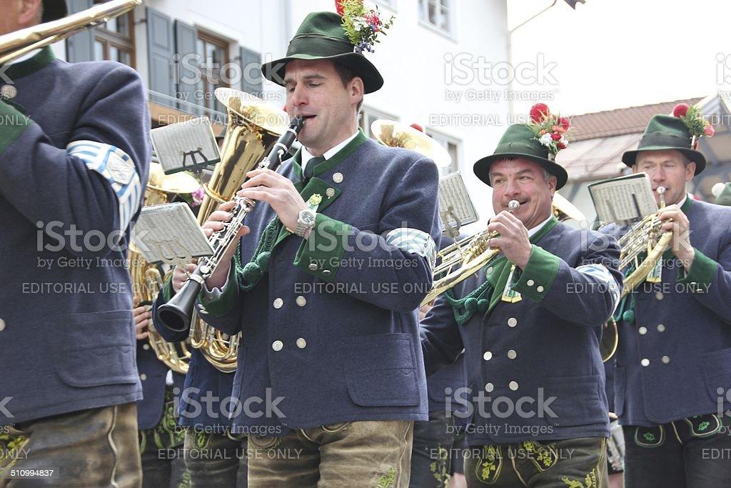 Gebirgssch?tzenumzug in Miesbach - Bayern stock photo