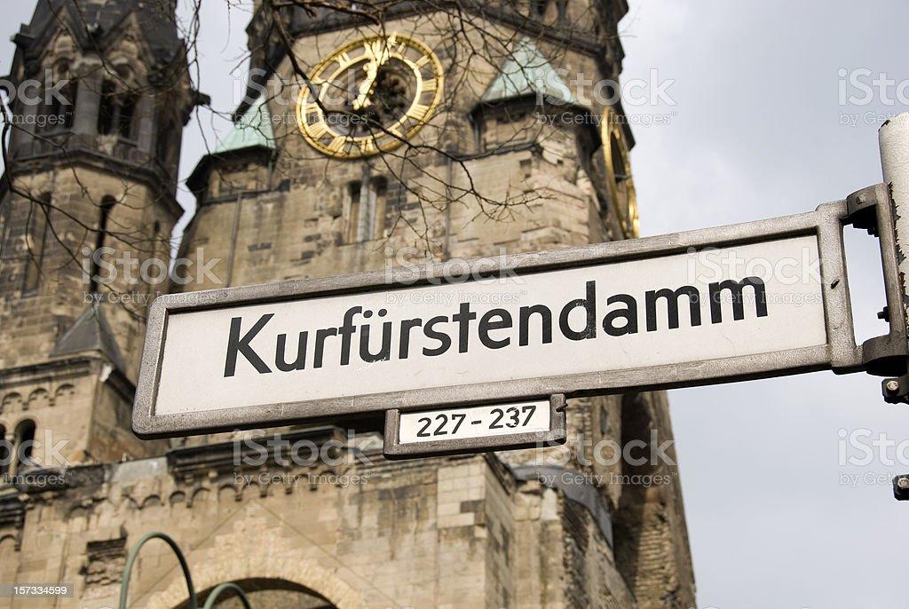Ged?chtnis Kirche at the Kurf?rstendamm stock photo