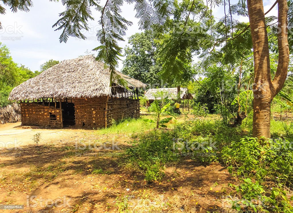 Gedi villag (Gede). Swahili town in Kenya near Malindi. Eastern stock photo