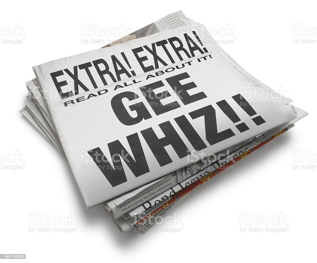 Gee Whiz! stock photo
