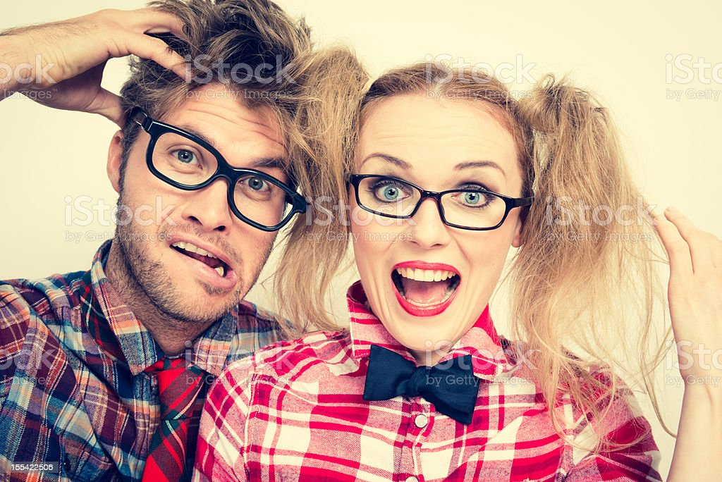 Geek Couple royalty-free stock photo