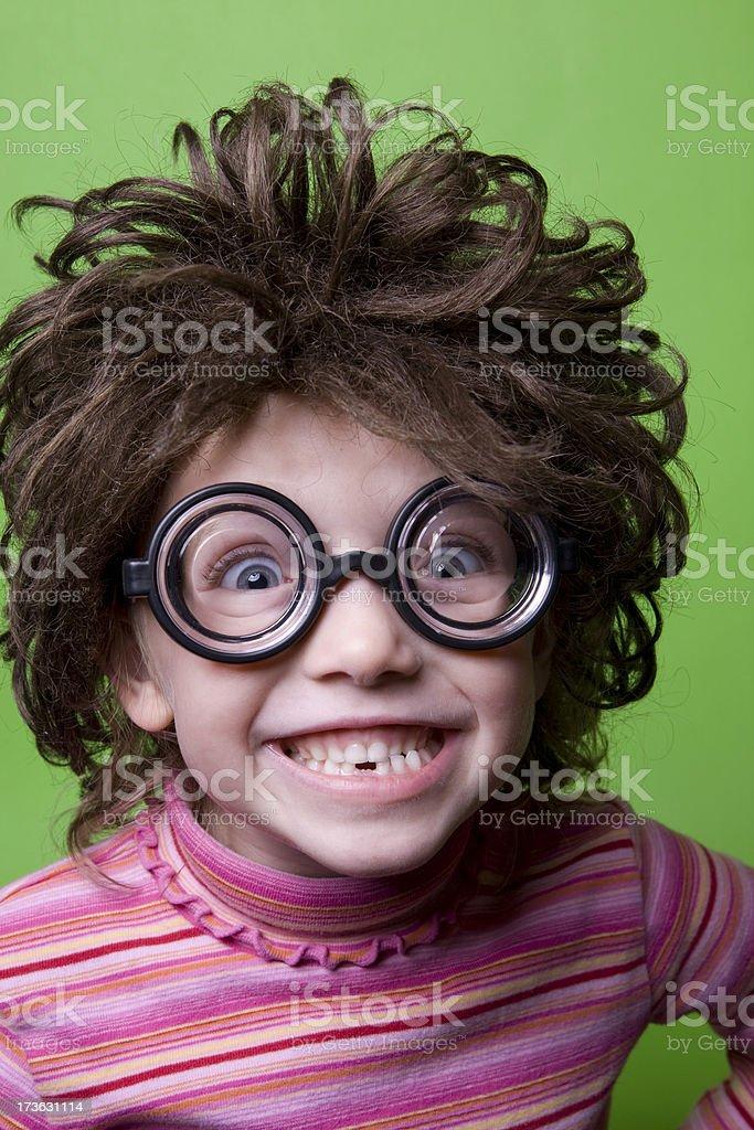 Geek on Green - Ecstatic royalty-free stock photo