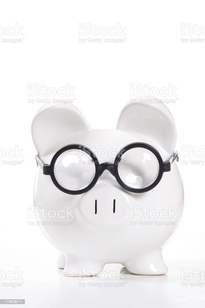 Geek or Elderly Savings Bank royalty-free stock photo