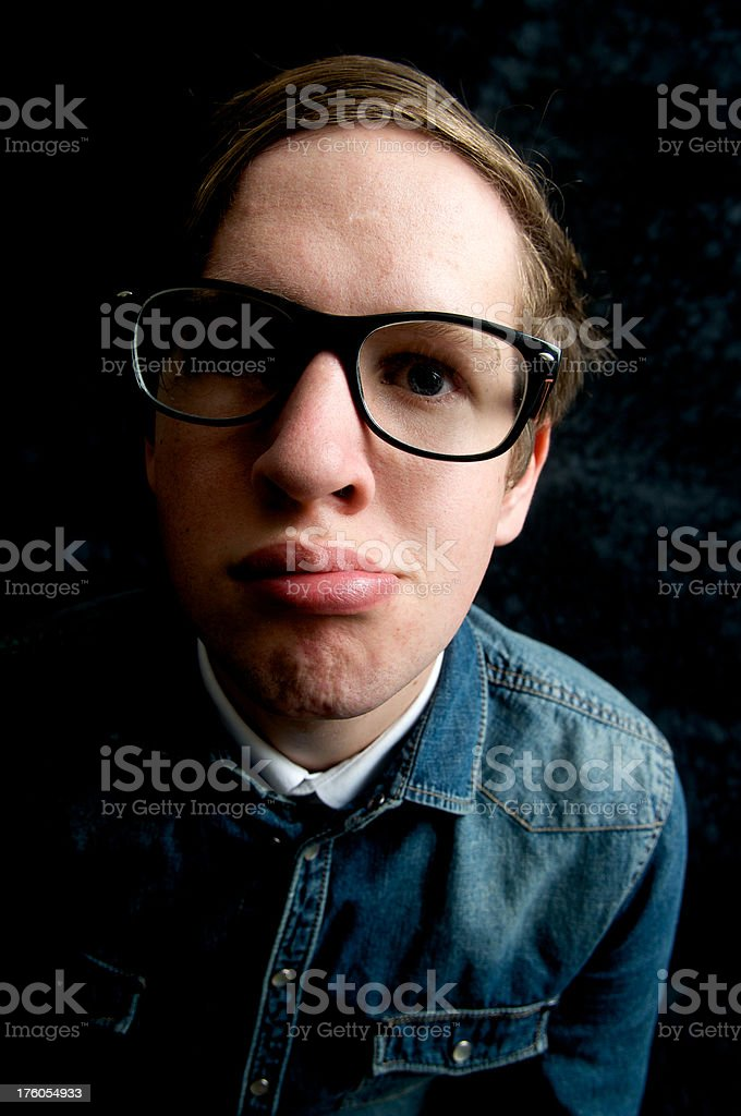 Geek royalty-free stock photo