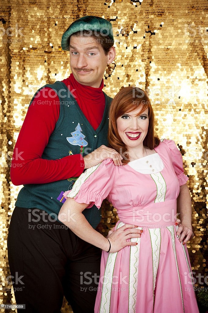 Geeky Christmas Portrait royalty-free stock photo