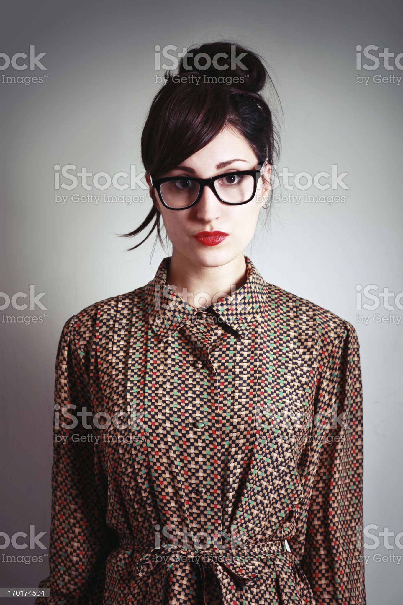 geeky hipster fashion royalty-free stock photo