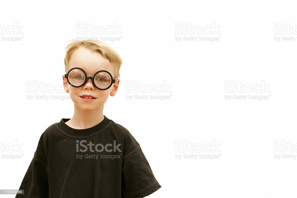 Geeky royalty-free stock photo
