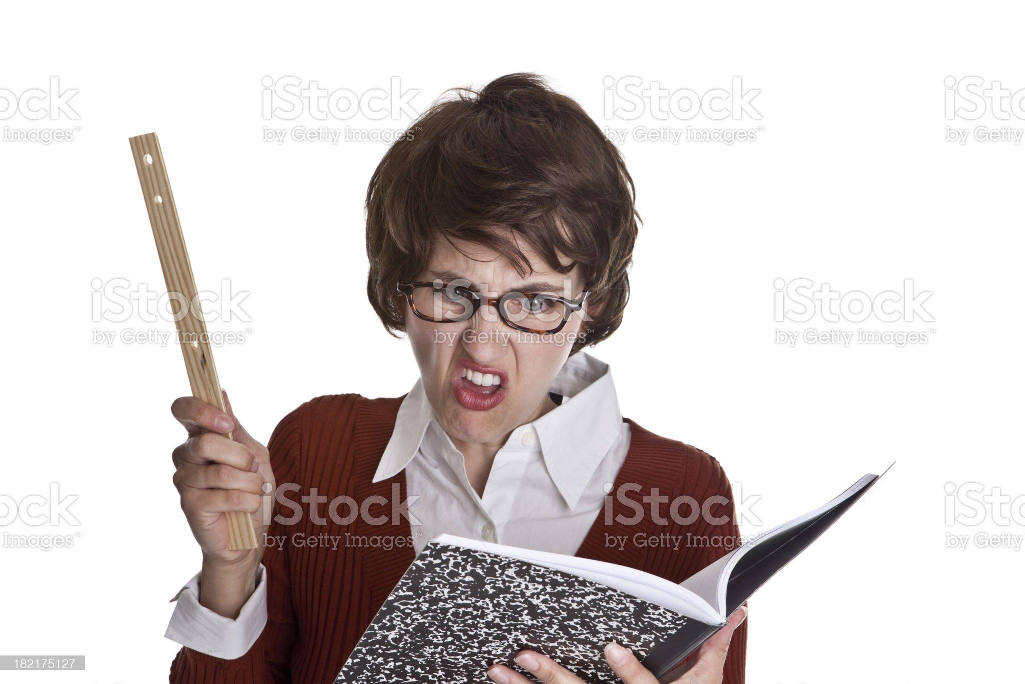 Geeky Teacher royalty-free stock photo
