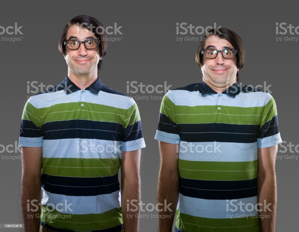 Geeky Young Man stock photo