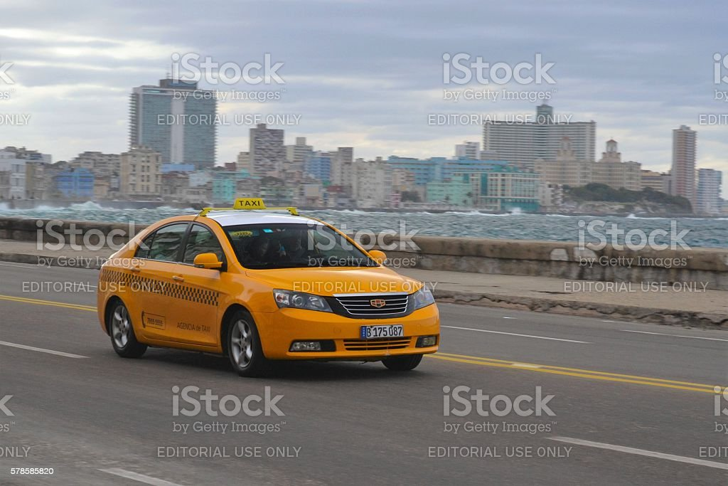 Geely Emgrand7 in taxi version stock photo