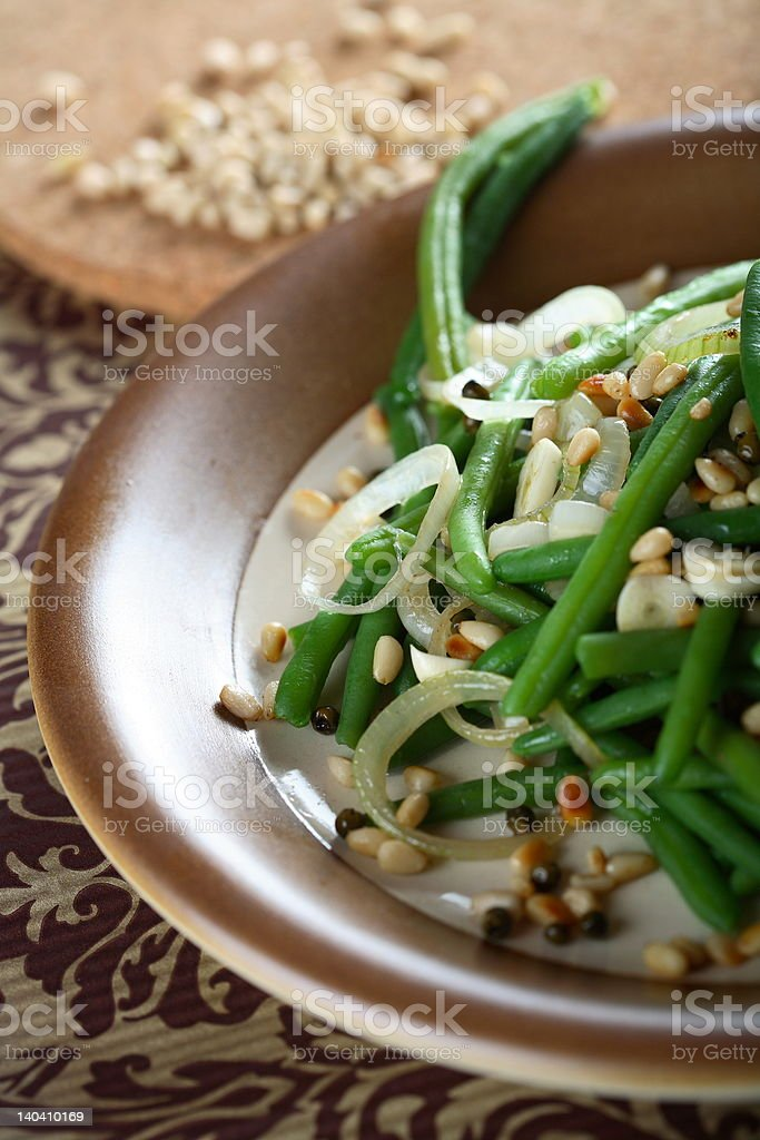 Geen beans with nuts royalty-free stock photo