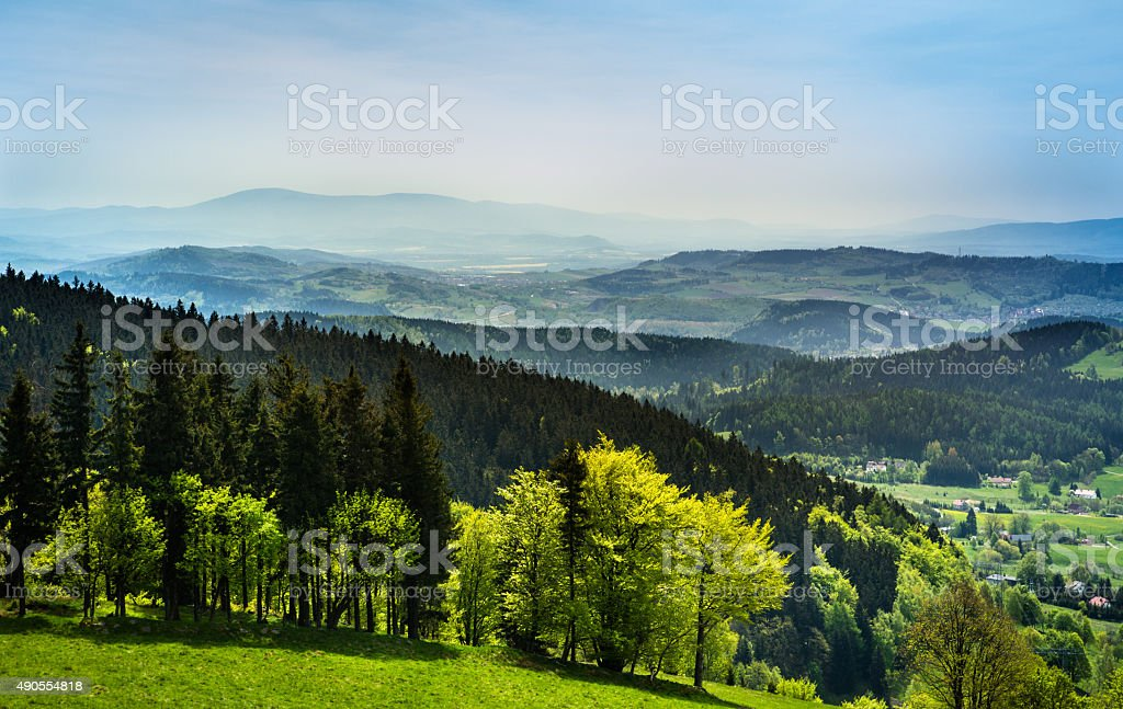 Geen Mountains Ladscape stock photo