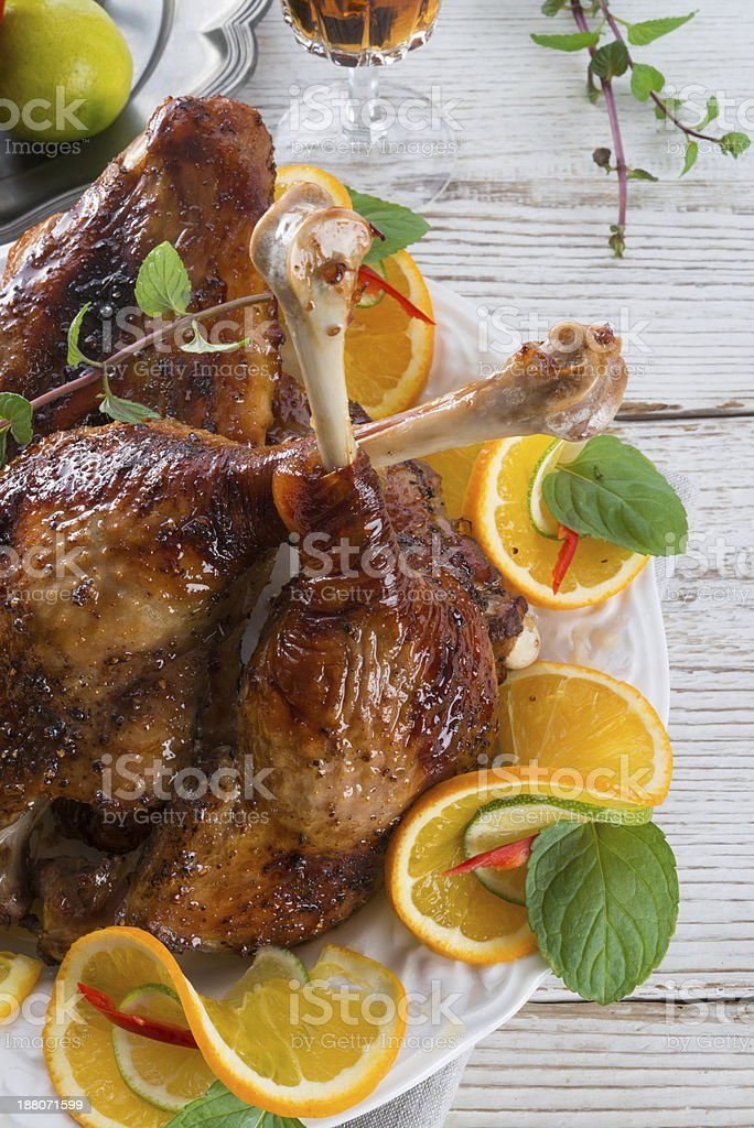 geese meat for St. Martin's Day stock photo