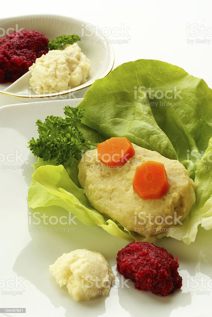 Gefilte fish royalty-free stock photo