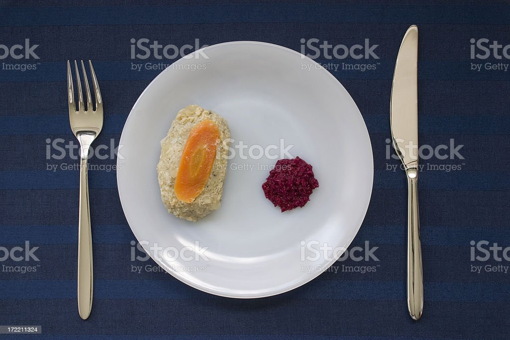 Gefilte fish with Horseradish royalty-free stock photo