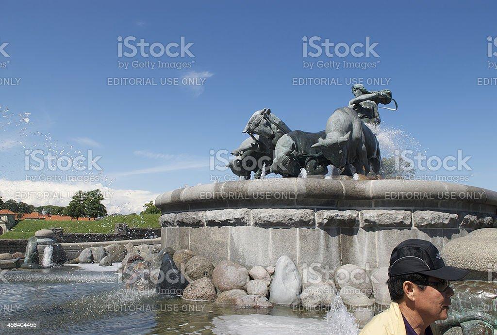 Gefion Fountain in Copenhagen royalty-free stock photo