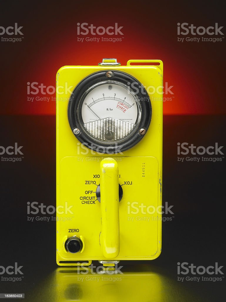 Geiger Counter, head-on stock photo