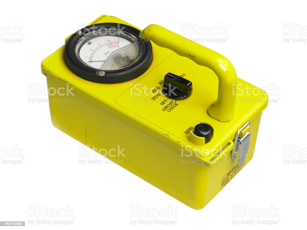 Geiger Counter on white stock photo