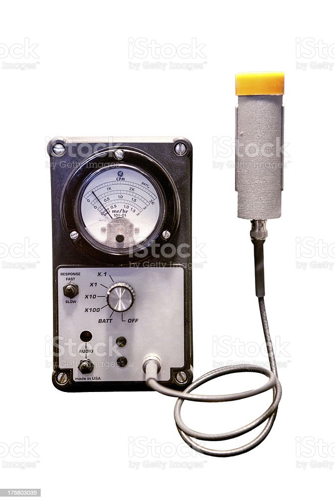 Geiger Counter with Clipping Path stock photo