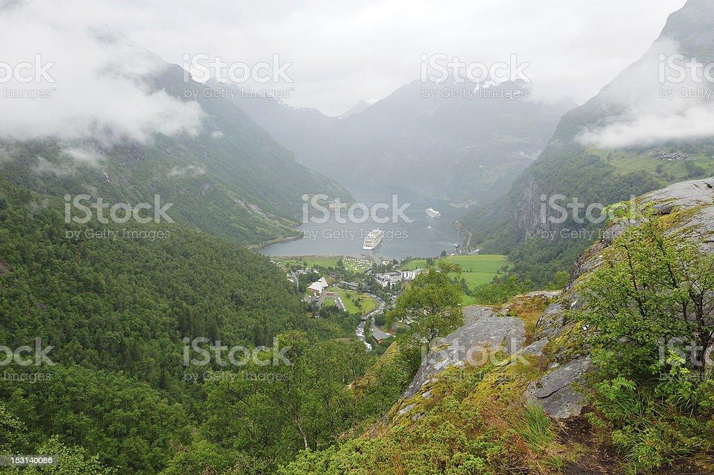 Geiranger fjord Norway stock photo