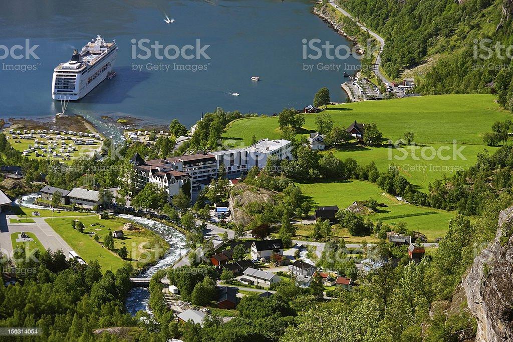 Geiranger fjord, Norway stock photo