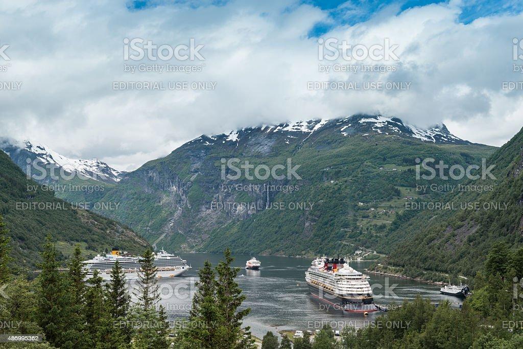 Geiranger Fjord - Norway stock photo