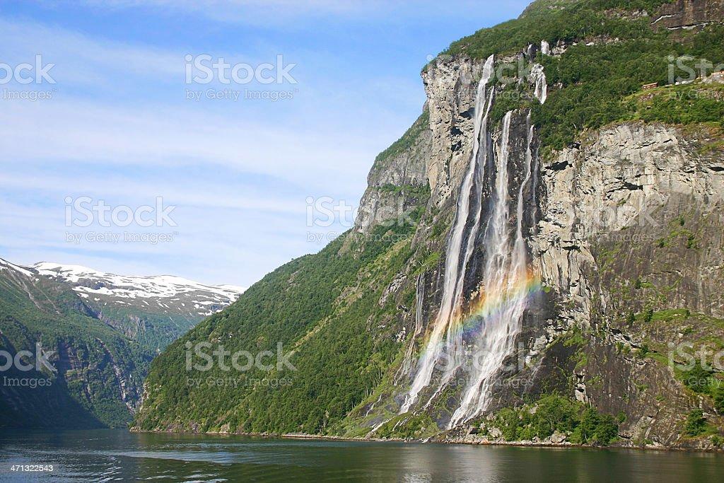 Geiranger Fjord stock photo