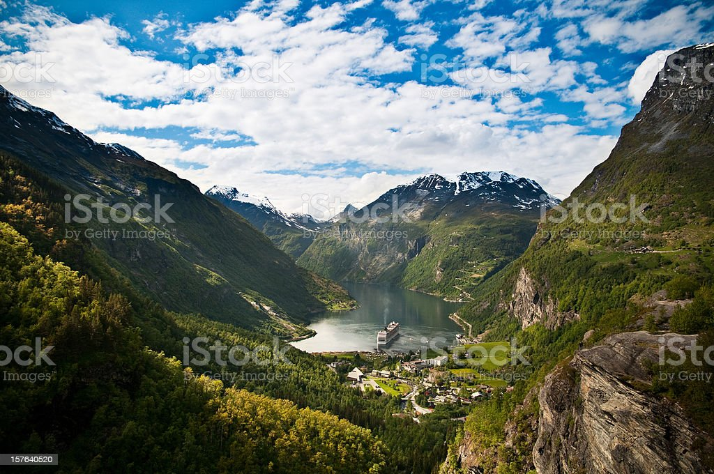 Geirangerfjord, Norway stock photo