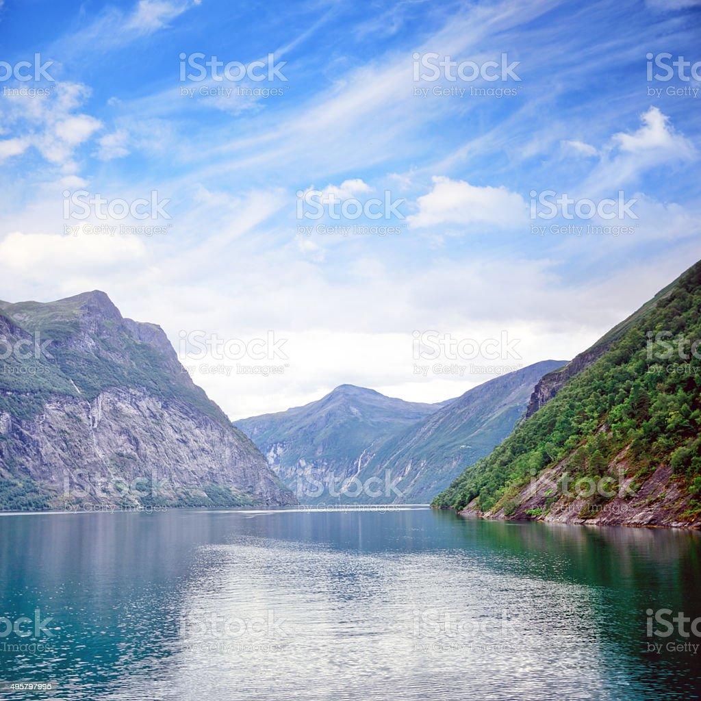 Geirangerfjord, Norway stock photo