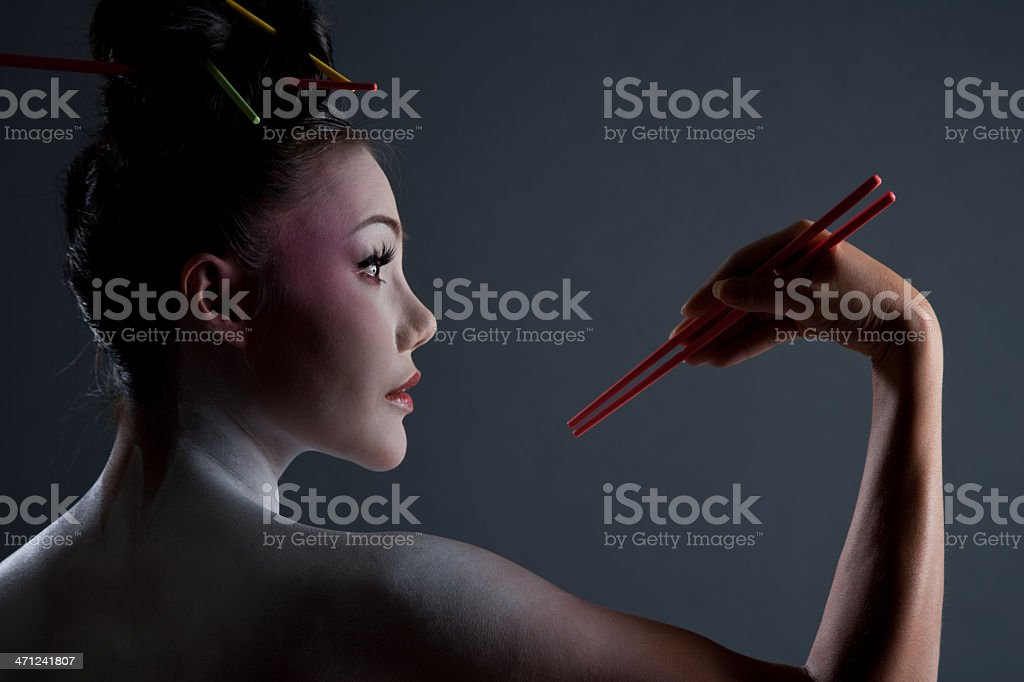 Geisha Girl royalty-free stock photo