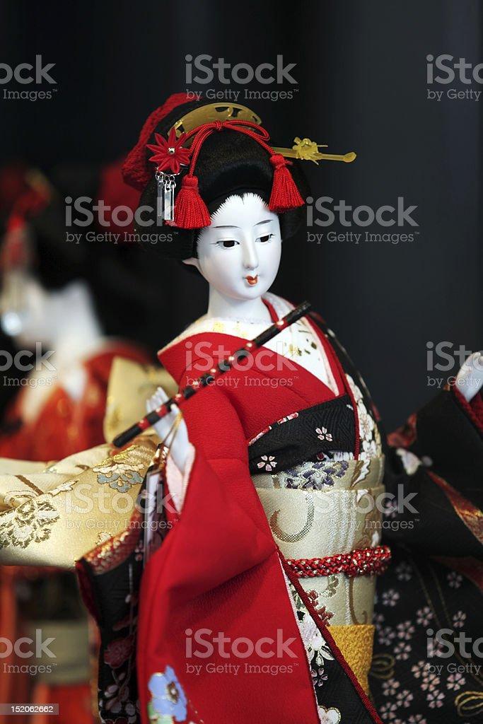 Geisha japanische doll Lizenzfreies stock-foto