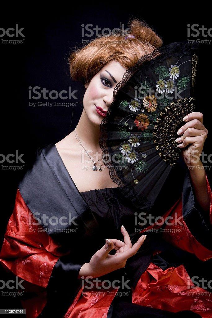 Geisha royalty-free stock photo